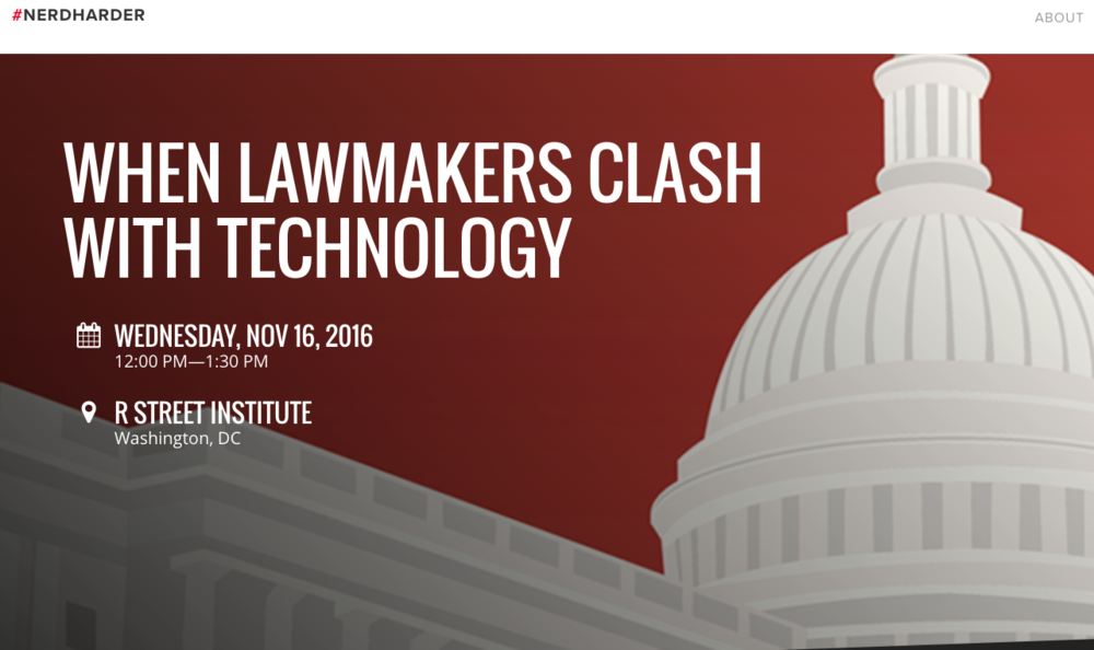 Last month's meeting of the Legislative Branch Capacity Working Group has sparked additional interest in the Office of Technology Assessment and Congress's capacity to comprehend technological change. So, the R Street Institute has arranged a lunch-time panel on the topic that is scheduled for Wednesday, November 16....(Read more or RSVP)
