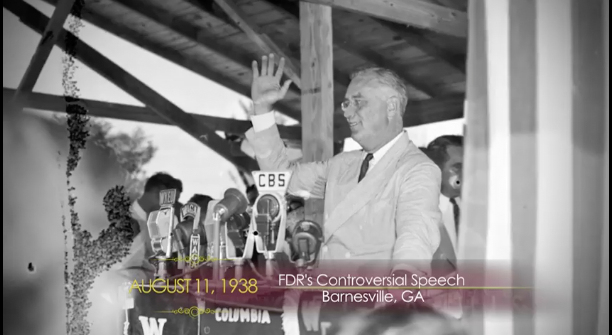 Source: http://www.todayingeorgiahistory.org/content/fdrs-controversial-speech-barnesville
