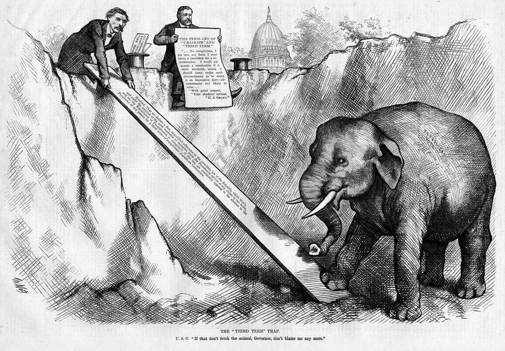 "Thomas Nast, ""Third Term Trap,"" 1874. Source: Harpweek.com."