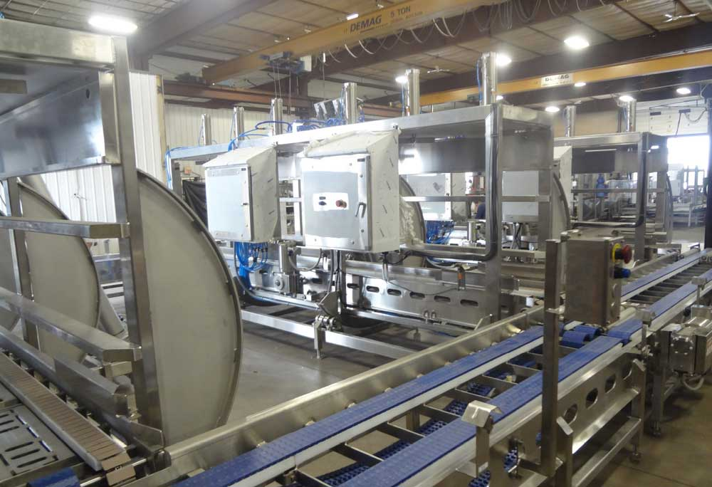 1 to 15 Automated Cheese Barrel, Block or Mold Tip Press Stations - CIP Quick Connect Flow Panels