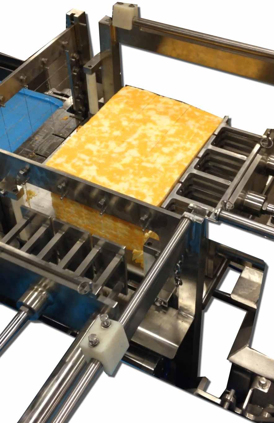 2-Way Automatic Cheese Cutters, Pneumatic, Hydraulic, Servo, 40lb Block Cutters, Sticks