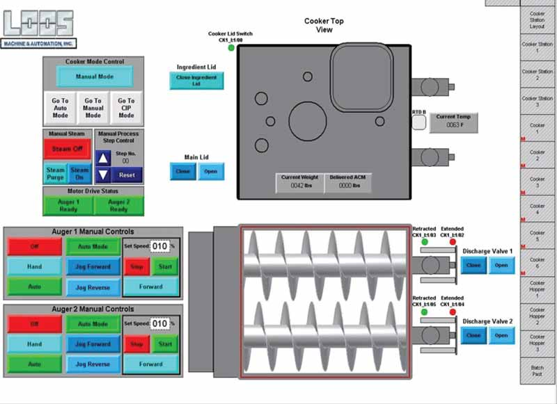 Custom HMI Panel Design, Automated Recipe Integration and Ingredient Delivery
