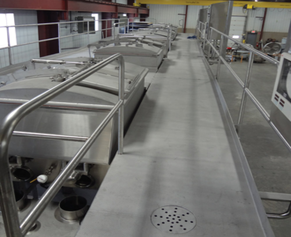 Mezzanies Platforms for Dairy Loos Automation Colby Wisconsin