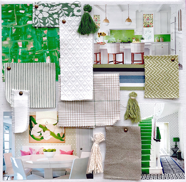 Marlatex patterns clockwise from top left: Hinterland Verde, Rhombus Bleach, Nellie Pistachio, Billie Modern, Rylane Linen, Kelly Kiwi, Spunky Bleach, Poppy Verde