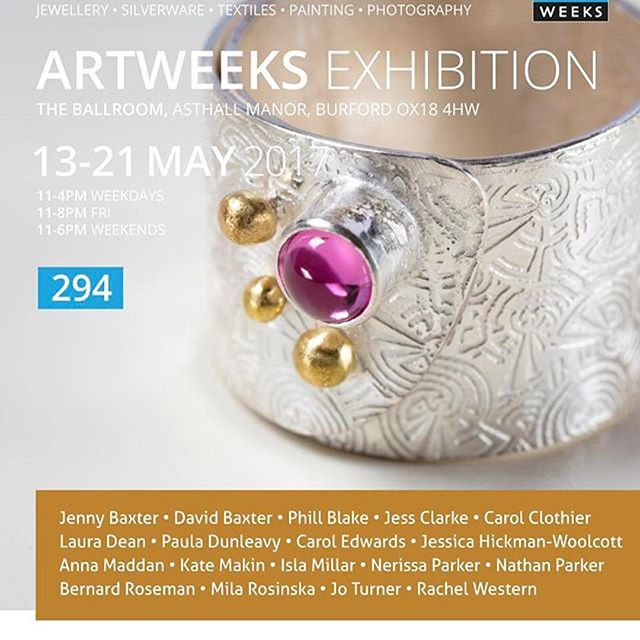 I sadly can't make it the last day at #asthallmanor as I'm moving house! Hope it's a great day and huge thanks to our many visitors so far. #Repost @kinghamjewelleryschool ・・・ The count down to our #oxonartweeks exhibition continues. We are at Asthall Manor from the 13th May. Wrap ring with beautiful pink Tourmaline by Carol Edwards.  @oxfordshireartweeks @OxonArtweeks #silverjewellery  #artweeks #paintings #photography #asthallmanor
