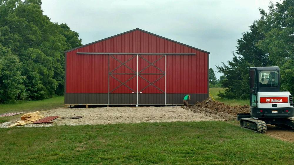 Custom 40x60 pole barn marshfield mo marshfield buildings for 40x60 barn