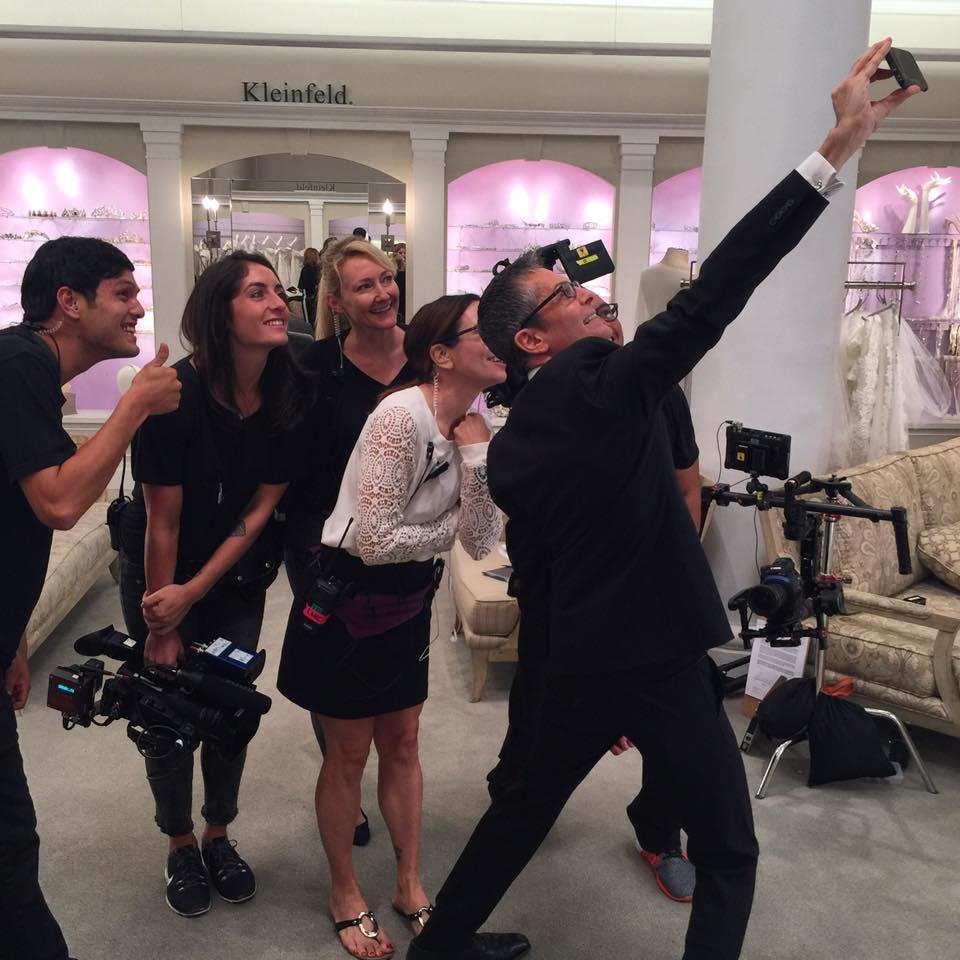Randy Fenoli himself taking a selfie with the production crew of Say Yes to the Dress at Kleinfeld