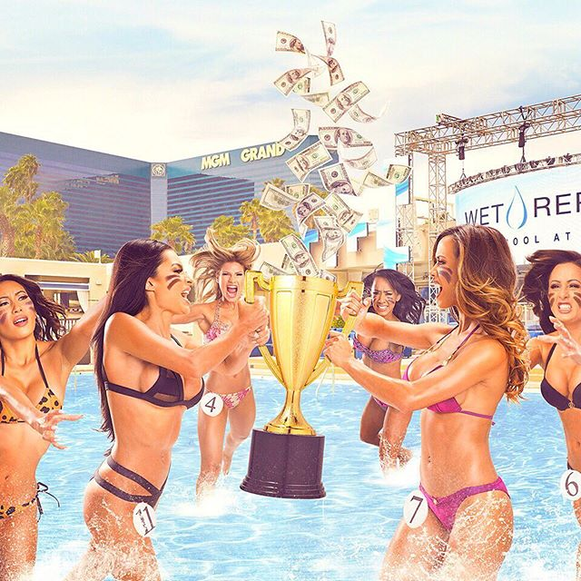 Anyone up for a bikini contest this morning?! _____________________________________________  Reserve your events and keep up to date with the top parties - tap link in our bio to see what's on in Vegas... _____________________________________________ #Vegas #MGM #Hot100 #poolside #WetRepublic #LV #incentivetravel #PhotoOfTheDay #PoolParty #Happy #Beautiful #Like #Fun #Smile #Friends #Instadaily #corporatetravel #Instalike #Cool #Style #Sun #Instacool #Shoutout #Amazing  #luxuryretreat #LuxuryTravel #LivingTheDream #TrulyVisit #BusinessAsUsual 🎉