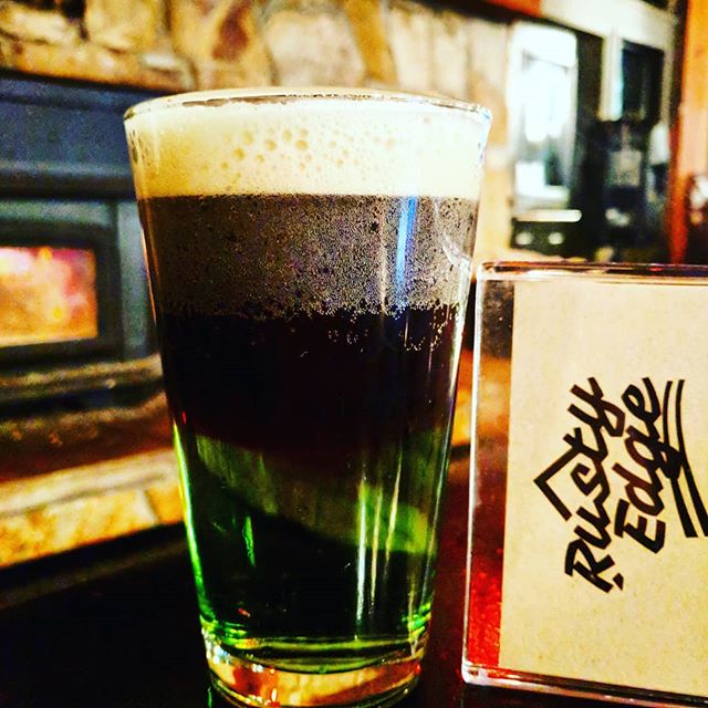 Get tipsy at the Rusty Edge today for St. Patrick's Day! Come try an emerald Guinness float. Pints of Guinness for $7and $1 off Jamesons!  #ferniestoke #stpaddysday #greenbeer #daydrinking