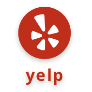 Yelp LOGO - LEAVE A REVIEW ON yelp