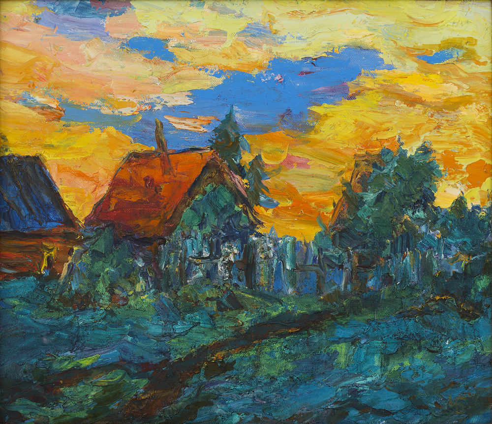 Bathhouses, Evening on the Ladoga