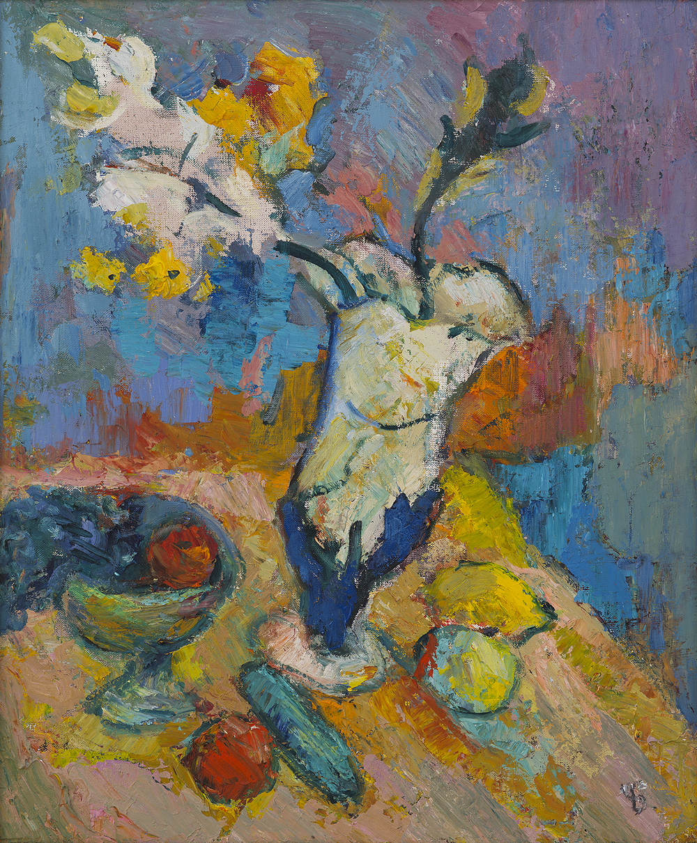 Still Life Flowers and Fruit
