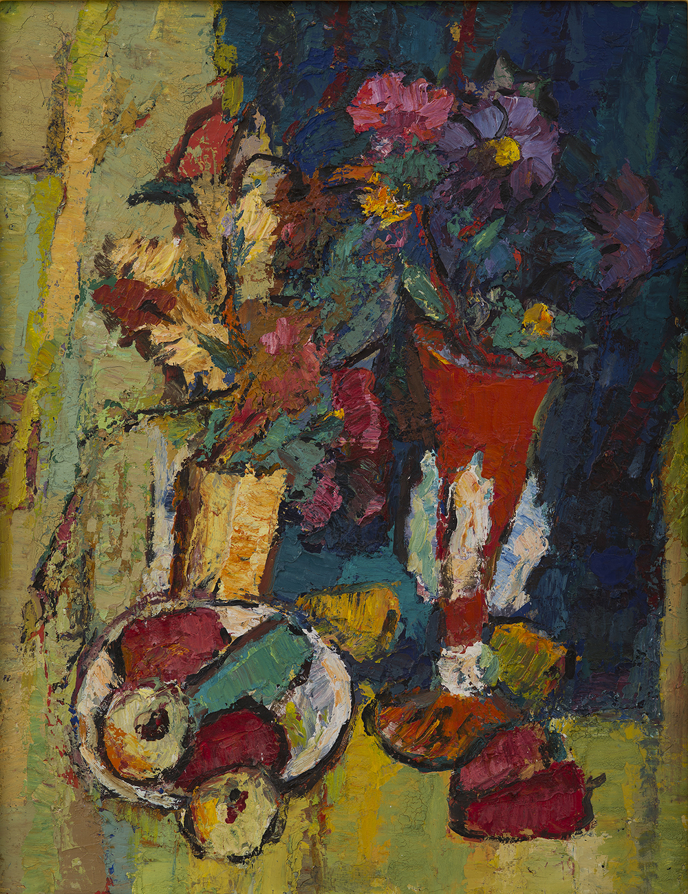Still Life with Red Vase