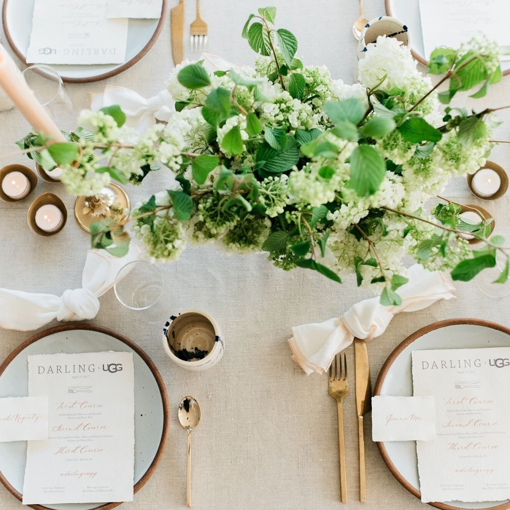 DARLING X UGG Dinner, Darling Magazine  I  Coordination, Flowers, Design:  Chelsea Carter Events I  Photographer : Cara Robbins
