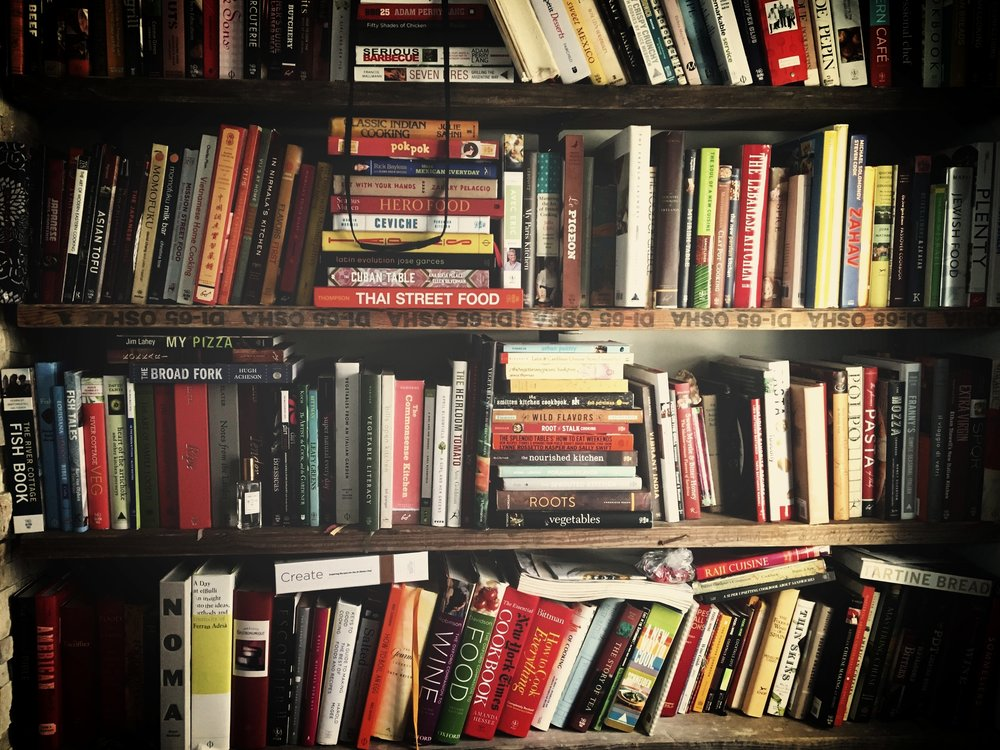 Laena's Kitchen Library - A look into a food entrepreneur + food writer's bookshelf