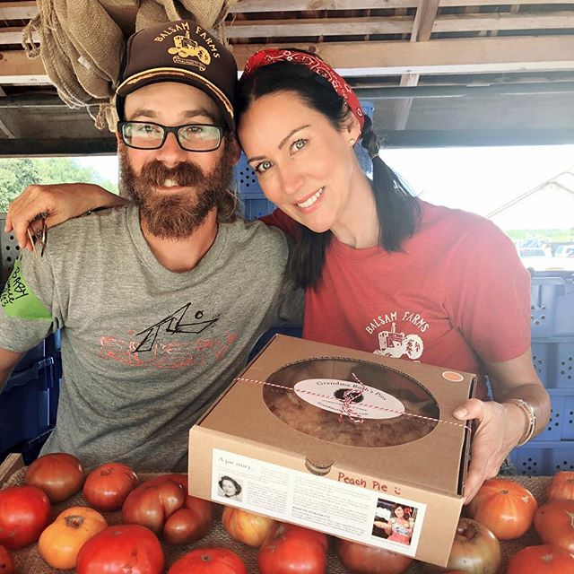 Thanks to this guy ... Bryan Stewart! He believed in Grandma Ruth's Pies & we are selling out @balsamfarms !  Thanks Bryan, Rachel & Ian for your support 🙏🏼🌺❤️