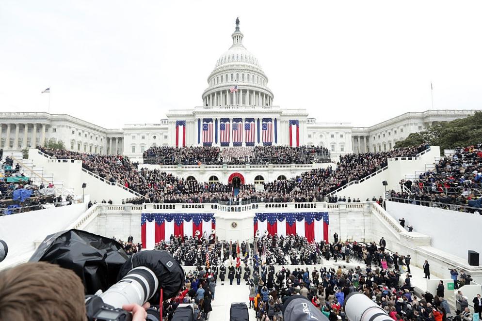 Il Campidoglio, sede del Congresso, il giorno dell'innaugaurazione di Donald Trump. Photo by Alex Wong/Getty Images News / Getty Images