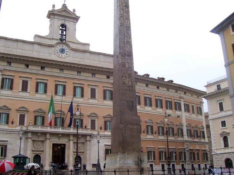 Montecitorio, Roma, sede del Parlamento Italiano.