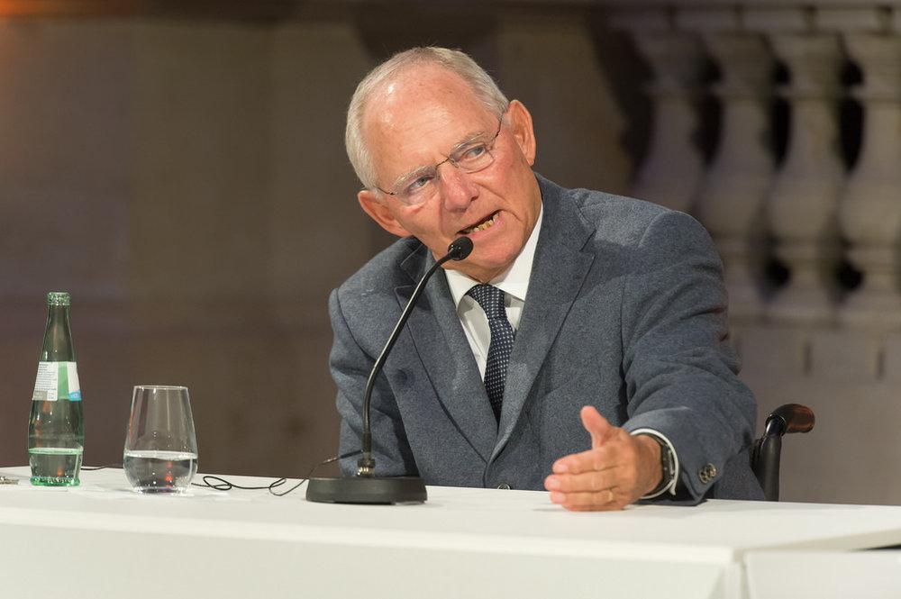 Wolfgang Schäuble, Ministro delle Finanze tedesco, falco del governo e principale critico di Martin Schultz