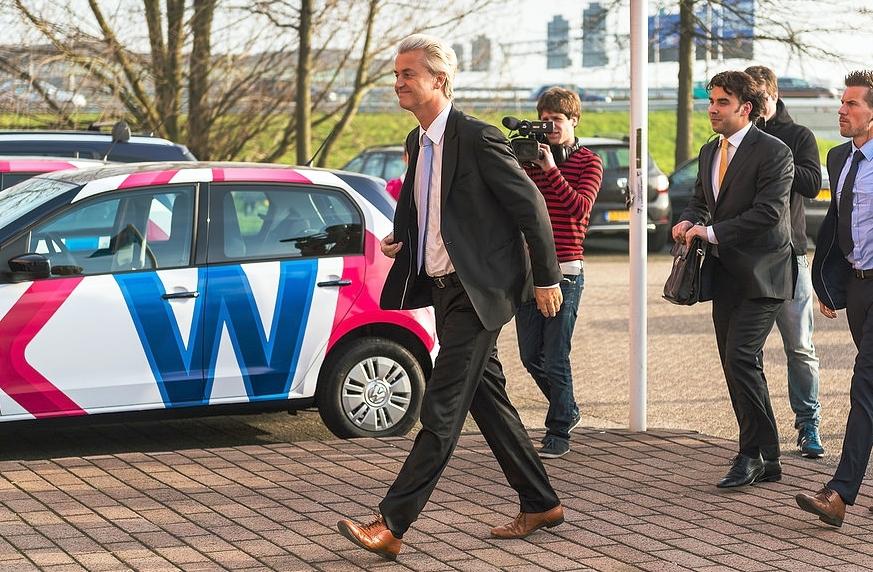 Il leader populista Geert Wilders, leader del Partito per la Libertà noto per le sue posizioni contro l'Unione Europea e l'Islam. Fonte:  andre.m(eye)r.vitaly , licenza:  CC 2.0