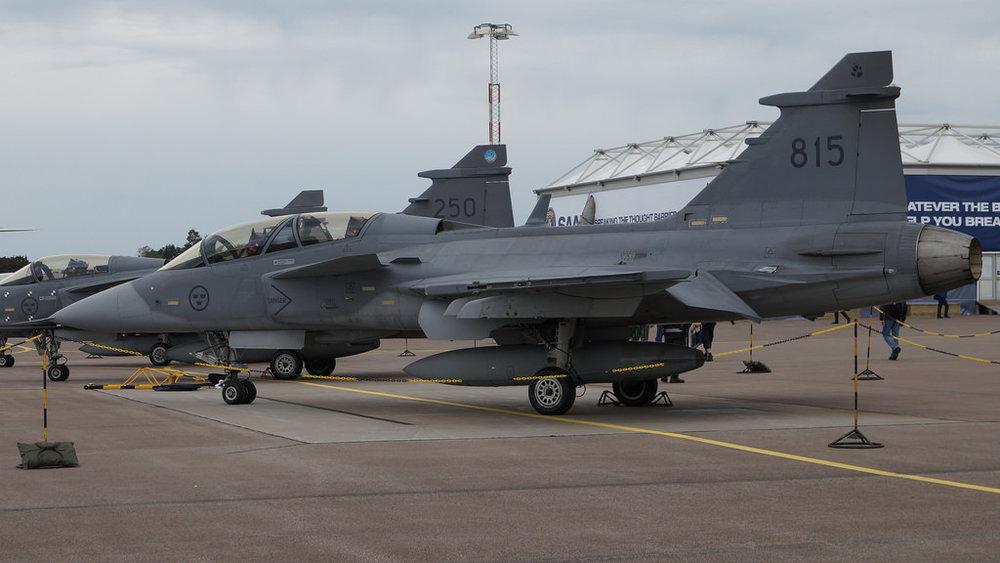 Saab Gripen dell'aviazione reale svedese, il fulcro della difesa aerea del paese scandinavo. Foto: J.Com   licenza : CC 2.0