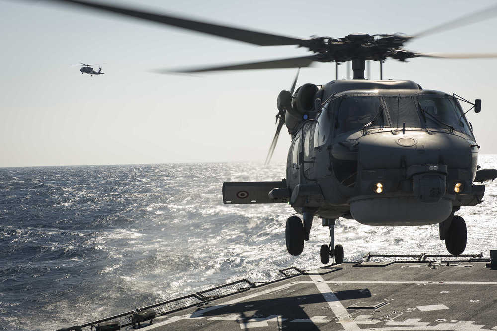 Un elicottero Seahawk della marina turca durante delle esercitazioni NATO Foto:  U.S. Navy  Licenza:  CC 2.0