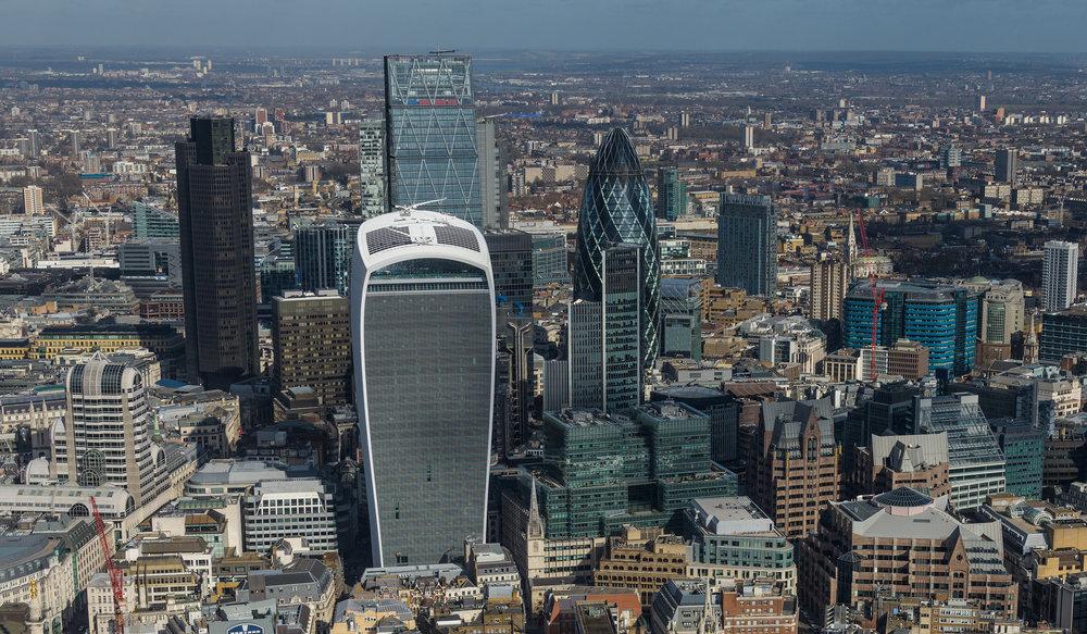 La City di Londra, una delle carte in mano a Theresa May nei confronti dell'Europa. Foto: Andy Sedg Licenza: CC 2.0