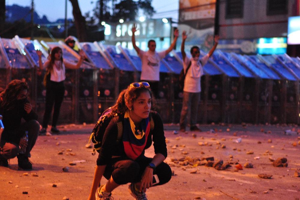 Proteste anti-governative in Venezuela, 15 febbraio. Foto:andresAzpLicenza:CC 2.0