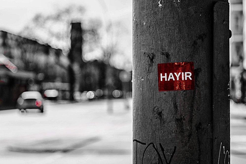 Campagna elettorale per il no al referendum costituzionale turco. Foto: Dennis Skley Licenza: CC 2.0
