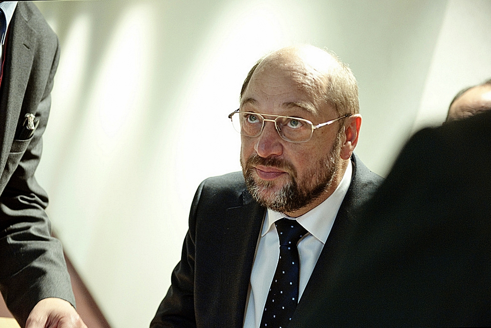 Martin Schulz, il segretario della SPD alle prese con la sua sfida più difficile, scardinare la Grande Coalizione. Foto: EU-Summit - EP President Martin Schulz, di European Parliament Licenza: CC 2.0