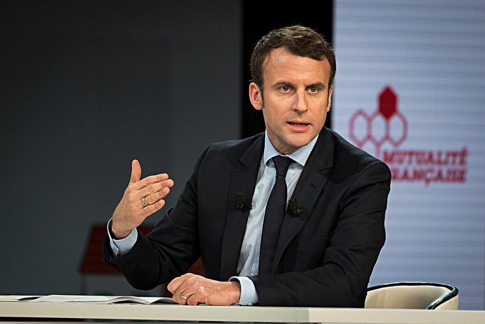 Il vincitore del primo turno delle presidenziali francesi, Emmanuel Macron. Foto:Emmanuel Macron, candidat du mouvement En Marche di Mutualité FrançaiseLicenza: CC 2.0