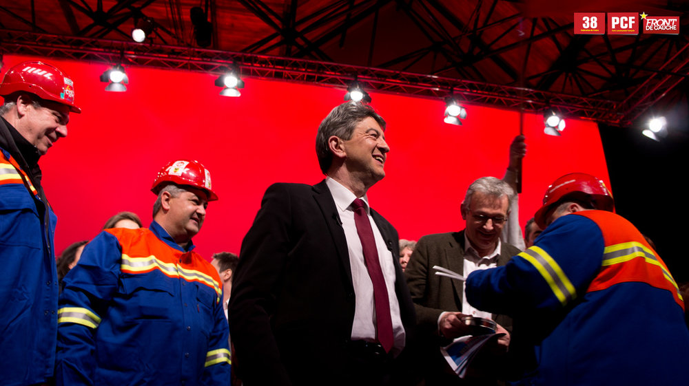 Jean-Luc Mélenchon, durante le elezioni presidenziali del 2012. Foto: Jonas Costagliola Licenza: CC 2.0