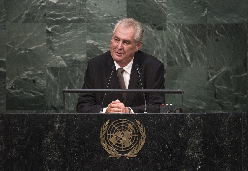 Il Presidente della Repubblica Ceca Milos Zeman alle Nazioni Unite. Foto:  UN Photo  Licenza:  CC 2.0