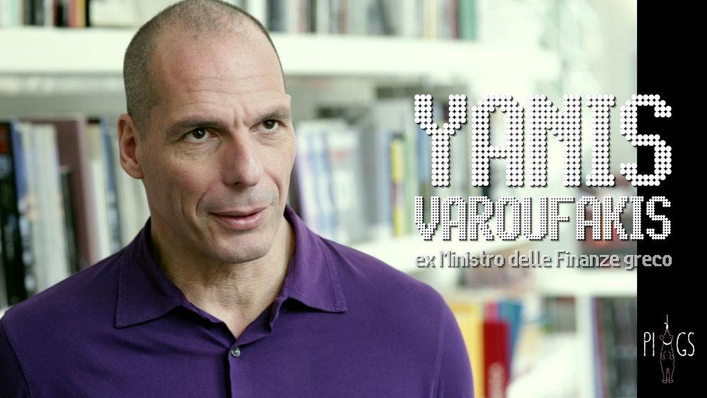 Yanis Varoufakis, ex-Ministro delle Finanze greco e voce importante della critica all'Unione Europea.