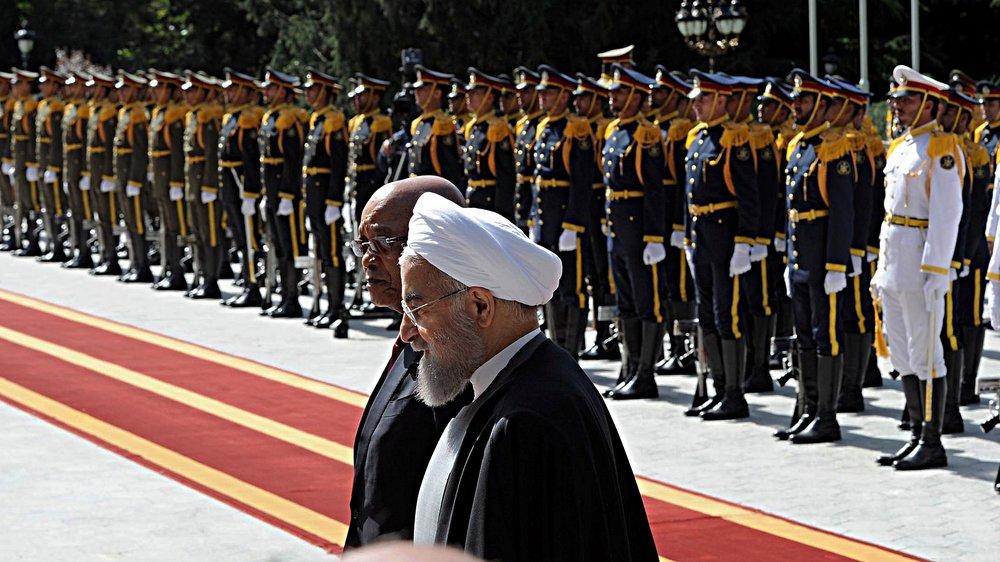 La Foto della Settimana:  Hassan Rouhani (insieme al Presidente sudafricano Zuma) è stato conferma Presidente della Repubblica Islamica dell'Iran nelle elezioni di Venerdì 19 maggio. Foto: GovernmentZA Licenza:   CC 2.0