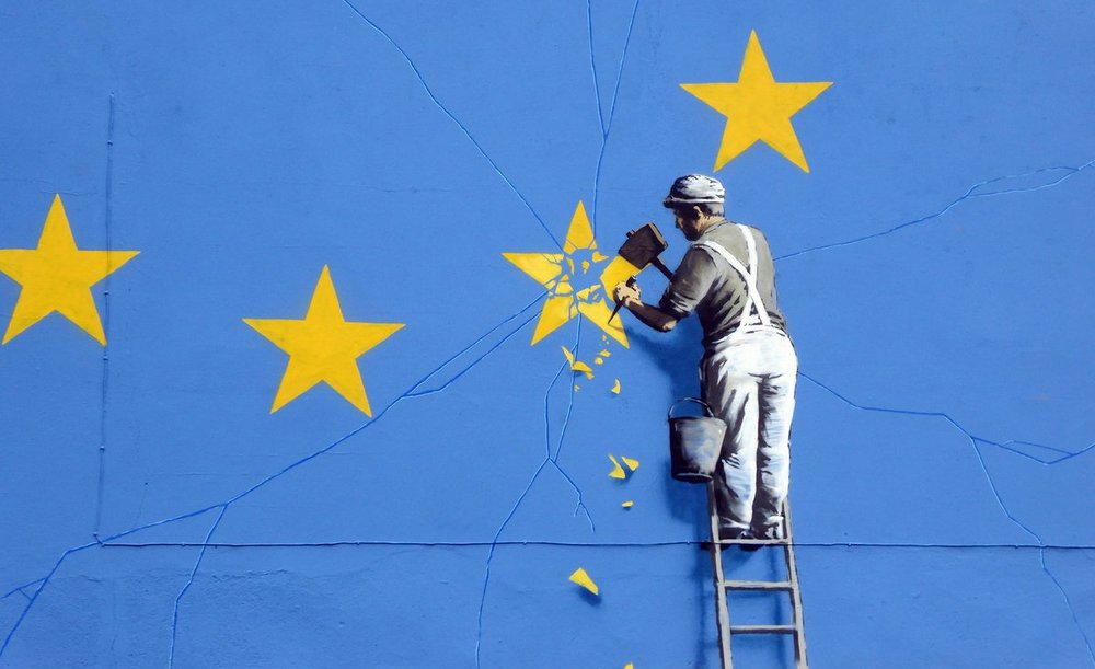 La Brexit secondo Bansky. Foto:  www.bansky.co.uk  Licenza:  CC 2.0
