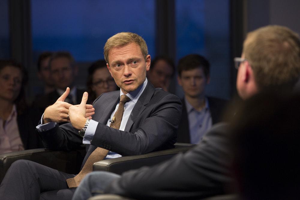 Il segretario federale della FDP, Christian Lindner. Foto: INSM Licenza:  CC 2.0