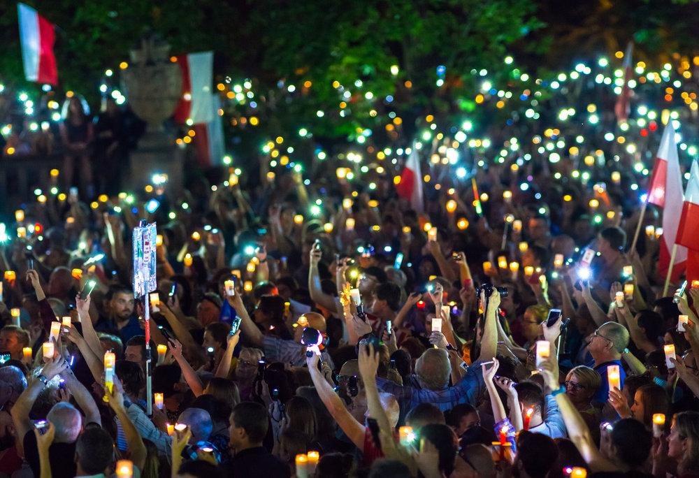 Le proteste in Polonia contro la riforma del potere giudiziario voluta dal governo. Foto:SakutoLicenza: CC 2.0