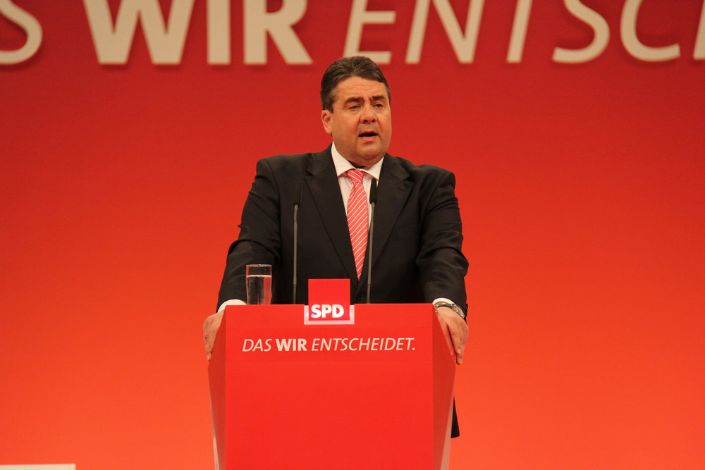Sigmar Gabriel, Ministro dell'Economia tedesco, vice-Cancelliere e figura di spicco della SPD. Proprio lui sembra, per primo, gettare la spugna nelle ormai prossime elezioni tedesche. Foto:JouWatchLicenza: CC 2.0