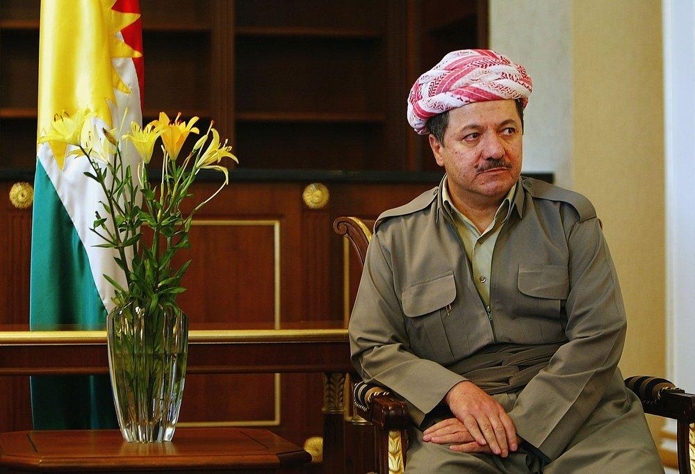 Il presidende della regione autonoma del Kurdistan iracheno: Mas'oud Barzani. Foto: Wathiq Khuzaie/Getty Images News / Getty Images