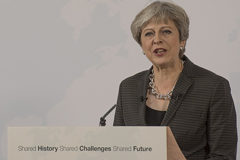 Theresa May a Firenze. Foto:Number 10Licenza CC 2.0