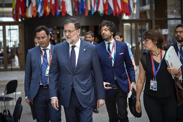 Mariano Rajoy al Consiglio d'Europa, il luogo del prossimo scontro fra Spagna e Catalogna. Foto: European Council Licenza: CC 2.0