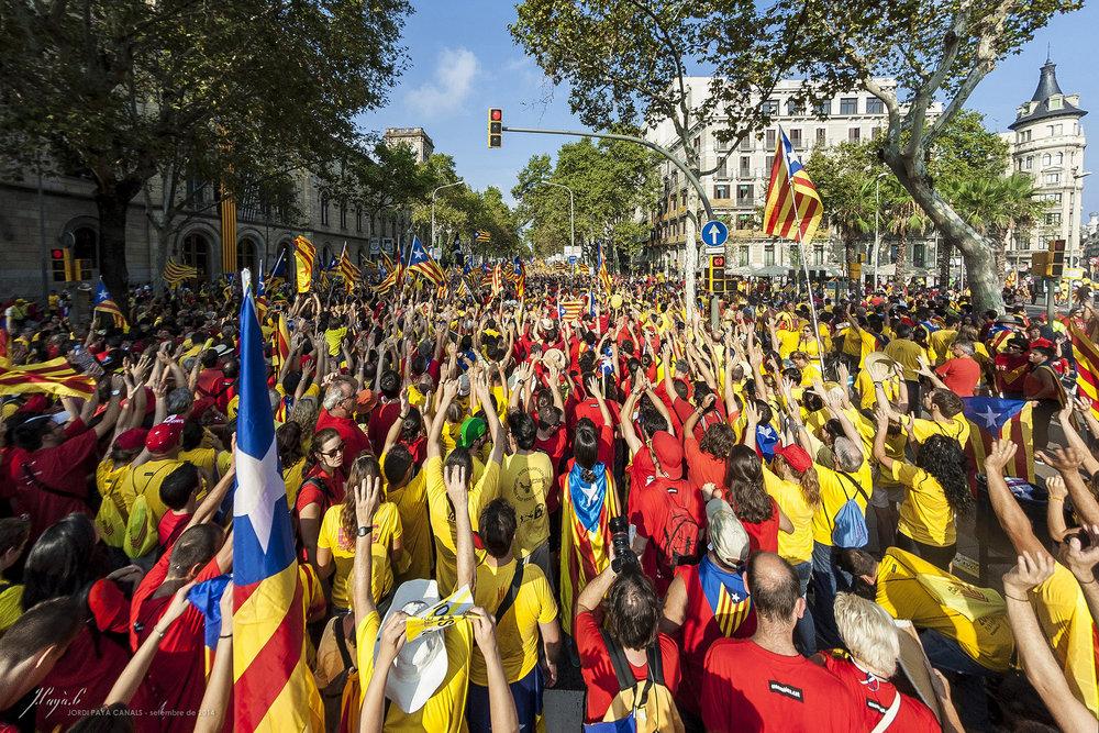 Manifestazione pro-indipendenza della Catalogna a Barcellona Foto:  Jordi Payà Licenza:  CC 2.0
