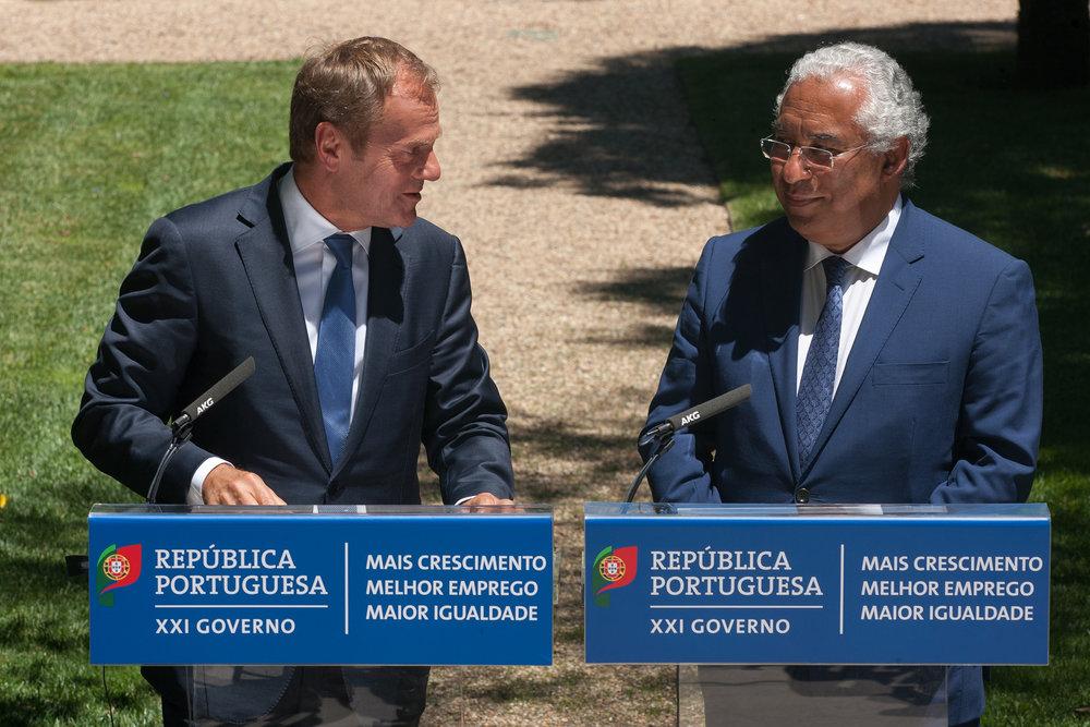 Antonio Costa insieme al Presidente del Consiglio d'Europa Donald Tusk. Foto:European Council PresidentLicenza: CC 2.0