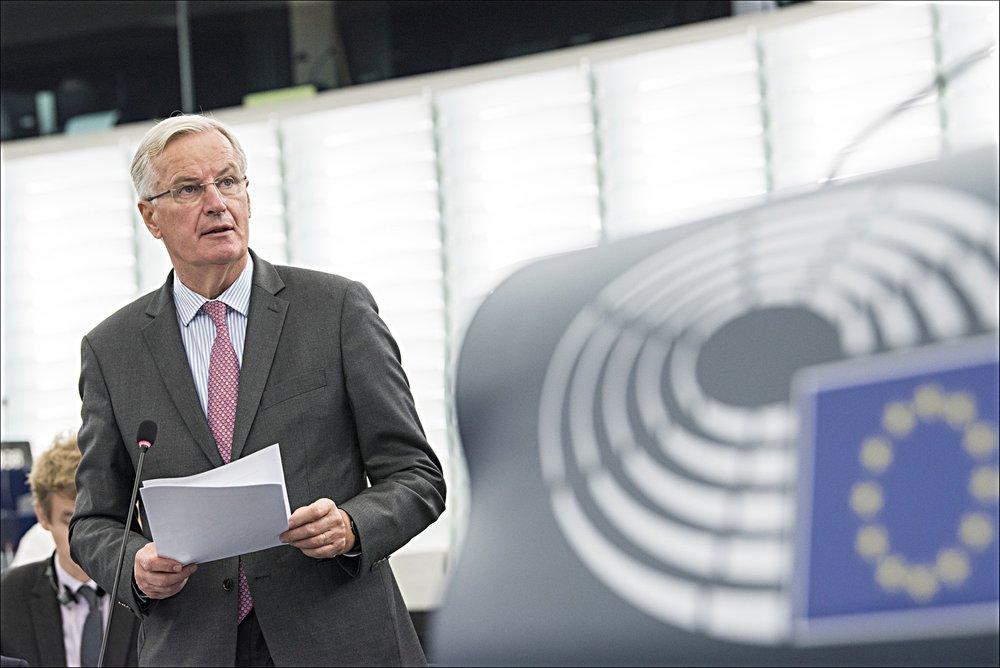 """Michel Barnier, capo-negoziatore europeo sulla Brexit. """"Non ci sono stati sufficienti progressi, per questo servono ancora settimane o mesi, per arrivare ad un accordo sul divorzio e passare alla fase due"""". Foto: European Parliament Licenza:  CC 2.0"""