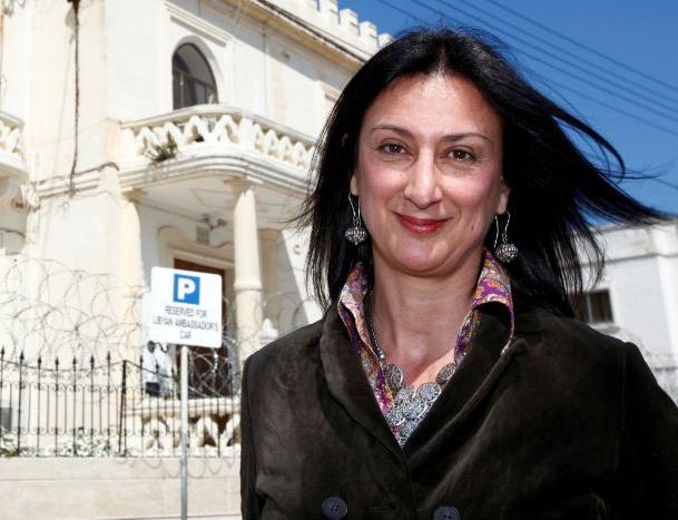 Daphne Caruana Galizia, la giornalista investigativa maltese trucidata dall'esplosione della sua auto. Foto:Conecta Abogados