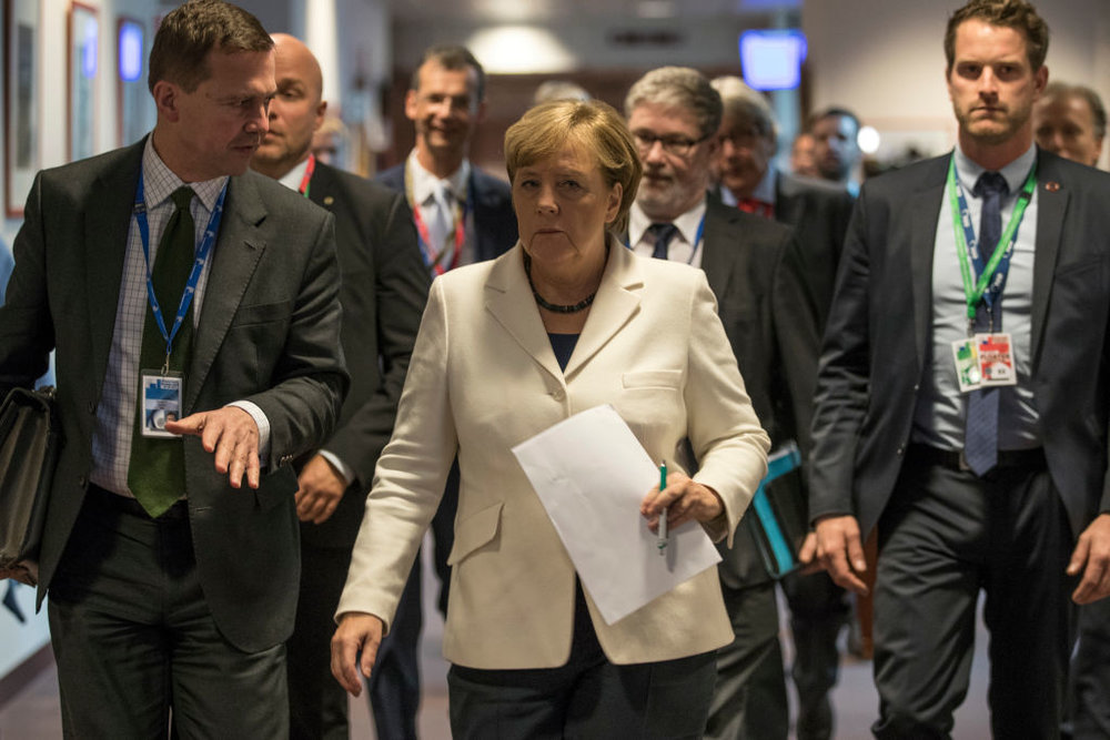 Angela Merkel a Bruxelles durante il Summit del Consiglio d'Europa. Foto: Dan Kitwood/Getty Images News / Getty Images