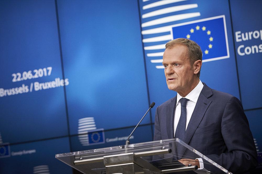 Il Presidente del Consiglio d'Europa, Donald Tusk,