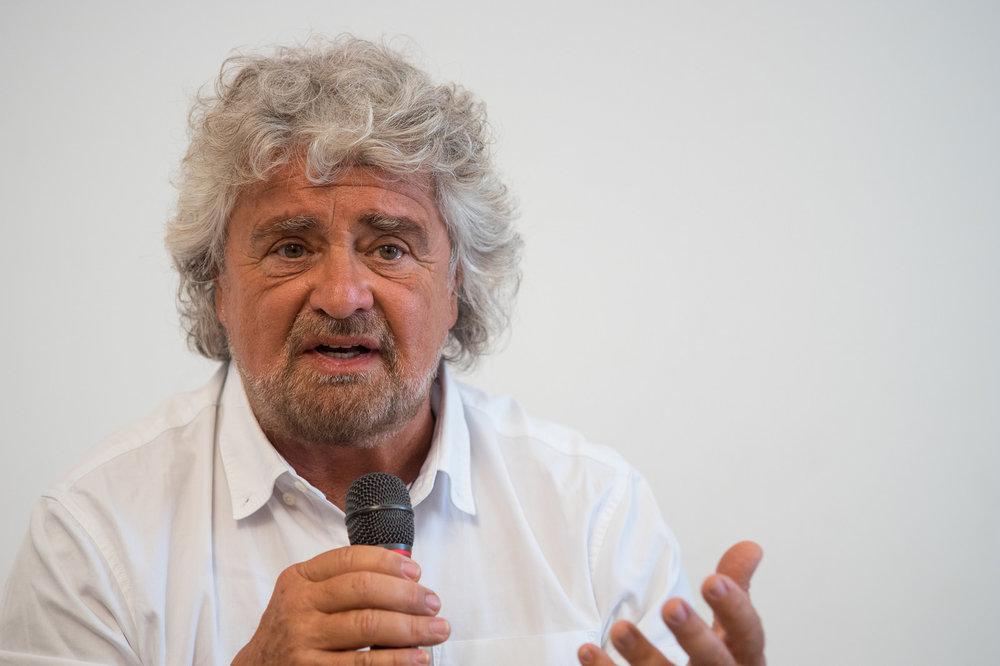 Il fondatore e leader del Movimento 5 Stelle Beppe Grillo. Foto: Optima Italia S.p.A. Licenza:  CC 2.0