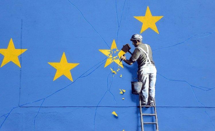 La Brexit secondo Bansky. Foto: www.bansky.co.uk  Licenza: CC 2.0